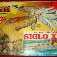 Coleccionismo Álbumes: ALBUM EDITADO POR MAGA EN 1977 -HECHOS Y SOLDADOS DEL SIGLO XX - INCOMPLETO . Lote 39948540