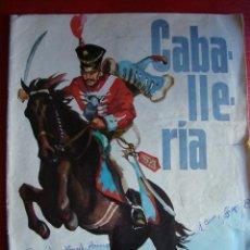 Coleccionismo Álbumes: ALBUM CROMOS. CABALLERIA. RUIZ ROMERO. 1965. FALTAN 3 CROMOS. Lote 40157124