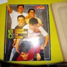 Coleccionismo Álbumes: ALBUM CROMOS CASI COMPLETO NEW KIDS ON THE BLOCK. FALTAN 5 CROMOS. .. Lote 40305612