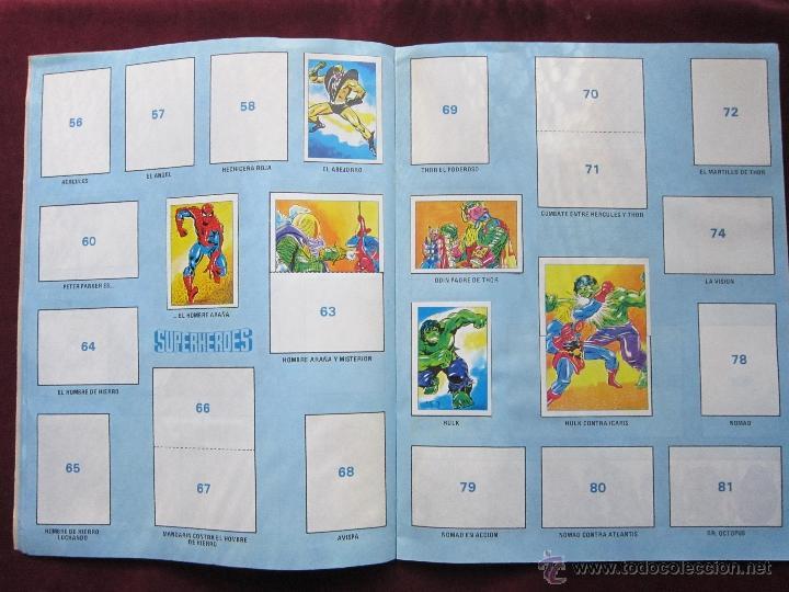 Coleccionismo Álbumes: Álbum de cromos Superheroes. Editorial Fher 1981. Incompleto. tebeni. MBE - Foto 3 - 40402347
