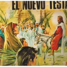 Coleccionismo Álbumes: ALBUM: EL NUEVO TESTAMENTO. PRODUCCIONES EDITORIALES 1971. TIENE 179 CROMOS. (FALTAN 23). Lote 40527555