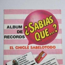 Coleccionismo Álbumes: ALBUM DE RECORDS - ¿SABIAS QUE? - CHICLE GUMTAR - SOLO UN CROMO PEGADO- VER FOTOS - (ALB-41). Lote 40914802