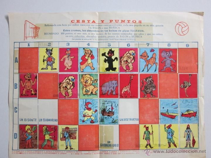 CESTA Y PUNTOS - ALBUM INCOMPLETO PIPAS TOSTAVAL - (ALB -45) (Coleccionismo - Cromos y Álbumes - Álbumes Incompletos)