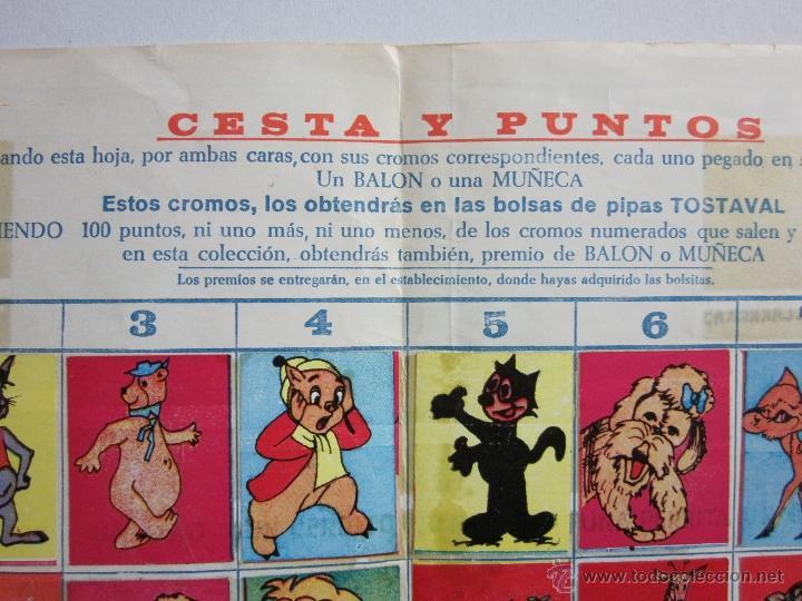Coleccionismo Álbumes: CESTA Y PUNTOS - ALBUM INCOMPLETO PIPAS TOSTAVAL - (ALB -45) - Foto 5 - 40927877