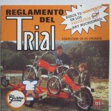 Coleccionismo Álbumes: REGLAMENTO DEL TRIAL - ALBUM INCOMPLETO - PASTELITOS GARRO - (ALB-46). Lote 40927951