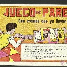 Coleccionismo Álbumes: ALBUM JUEGO DE PAREJAS - INCOMPLETO - PIPAS TOSTAVAL - PERSONAJES DE DIBUJOS-PICAPIEDRA,...-(ALB-50). Lote 41029010