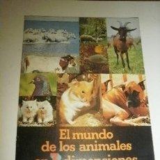 Coleccionismo Álbumes: ALBUM PANRICO EL MUNDO DE LOS ANIMALES N 3 DIMENSIONES VACIO PERO NUEVO. Lote 41144435