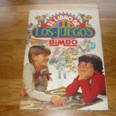Coleccionismo Álbumes: ÁLBUM: EL LIBRO DE LOS JUEGOS (BIMBO, 1979) ¡ORIGINAL! ¡! PLANCHA. Lote 41287076