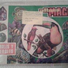 Coleccionismo Álbumes: ALBUM DE CROMOS MAGA. ANIMALES Y MINERALES.. Lote 41507588