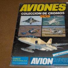 Coleccionismo Álbumes: AVIONES INCOMPLETO FALTAN 49 DE 180 CROMOS. CUSCÓ.. Lote 41565059