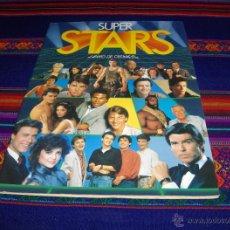 Coleccionismo Álbumes: SUPER STARS INCOMPLETO CON 201 CROMOS DE 216. EDICIONES ESTE 1986. 2 ÁLBUMES.. Lote 41686582