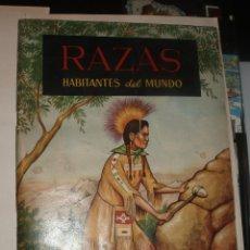 Coleccionismo Álbumes: RAZAS HABITANTES DEL MUNDO ALBUM FERCA. Lote 33682028