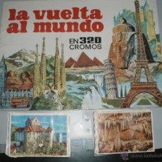 Coleccionismo Álbumes: ALBUM VUELTA AL MUNDO EN 320 CROMOS BRUGUERA MAS CROMOS. Lote 42096631