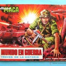Coleccionismo Álbumes: ÁLBUM INCOMPLETO. EL MUNDO EN GUERRA A TRAVÉS DE LA HISTORIA. EDITORIAL MAGA, 1979.. Lote 62627118