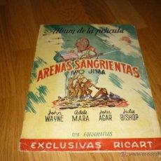 Coleccionismo Álbumes: ALBUM CROMOS ARENAS SANGRIENTAS IWO JIMA AÑO 1951 MUY MUY RARO !! FALTAN 23. Lote 42354546