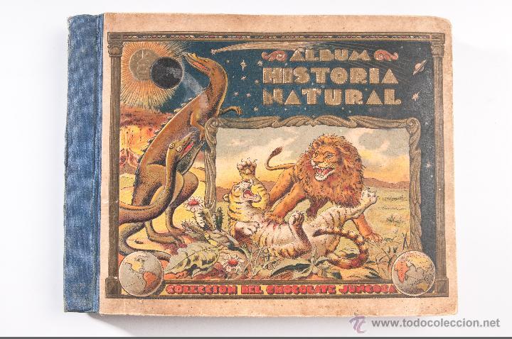 ALBUM DE HISTORIA NATURAL,INCONPLETO COLECCION DE CHOCOLATE JUNCOSA (Coleccionismo - Cromos y Álbumes - Álbumes Incompletos)
