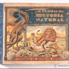 Coleccionismo Álbumes: ALBUM DE HISTORIA NATURAL,INCONPLETO COLECCION DE CHOCOLATE JUNCOSA. Lote 42356792