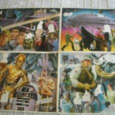 Coleccionismo Álbumes: ALBUM YOPLAIT STAR WARS EL IMPERIO CONTRAATACA (1980) CON 33 CROMOS. Lote 42912776