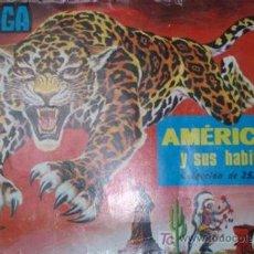 Coleccionismo Álbumes: ALBUM DE CROMOS - AMERICA Y SUS HABITANTES – COMPLETO AL 84% (FALTAN 42). Lote 26366669