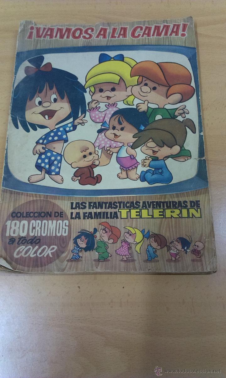 ALBUM CON CROMOS VAMOS A LA CAMA LAS FANTASTICAS AVENTURAS DE LA FAMILIA TELERIN (Coleccionismo - Cromos y Álbumes - Álbumes Incompletos)
