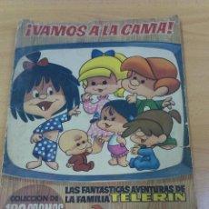 Coleccionismo Álbumes: ALBUM CON CROMOS VAMOS A LA CAMA LAS FANTASTICAS AVENTURAS DE LA FAMILIA TELERIN. Lote 43157581