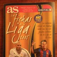 Coleccionismo Álbumes: ALBUM LAS FICHAS DE LA LIGA 2005. AS. MUNDI CROMO SPORT. CON 175 CARDS.. Lote 43238836