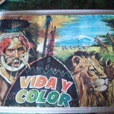 Coleccionismo Álbumes: VIDA Y COLOR 1970 (SOLO LE FALTA EL NUMERO 18). Lote 43280518