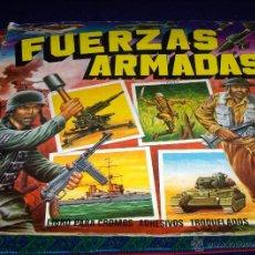 Coleccionismo Álbumes: FUERZAS ARMADAS INCOMPLETO CON 59 CROMOS APROX DE 240. ED. MAGA 1981. CROMOS TROQUELADOS. RARO.. Lote 43645862