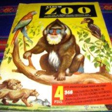 Coleccionismo Álbumes: ALBUM ZOO INCOMPLETO CON 73 CROMOS DE 368. ED. CLIPER. BUEN ESTADO.. Lote 43802290