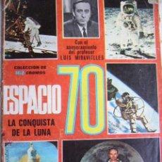 Coleccionismo Álbumes: ALBUM ESPACIO LA CONQUISTA DE LA LUNA 70. TIENE 22 CROMOS. Lote 44004823