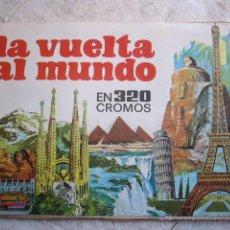 Coleccionismo Álbumes: ALBUM LA VUELTA AL MUNDO. FALTAN 66 CROMOS. Lote 44005019