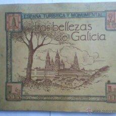 Coleccionismo Álbumes: ALBUM DE CROMOS, LAS BELLEZAS DE GALICIA, ESPAÑA TURISTICA Y MONUMENTAL, JUAN GIL CANELLAS. Lote 44058742