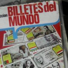 Coleccionismo Álbumes: ÁLBUM DE CROMOS BILLETES DEL MUNDO. INCOMPLETO. Lote 44760092