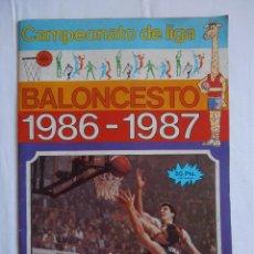 Coleccionismo Álbumes: ALBUM CAMPEONATO DE LIGA BALONCESTO 1986 1987 CONTIENE 27 DE 206. Lote 45005033