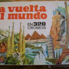 Coleccionismo Álbumes: ALBUM DE CROMOS- LA VUELTA AL MUNDO EN 320 CROMOS. Lote 45055826