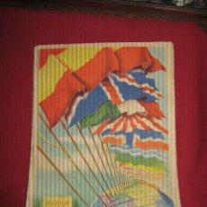 Coleccionismo Álbumes: ALBUM DE LAS BANDERAS Y ESCUDOS DE TODO EL MUNDO - SOLO LE FALTAN EL Nº 119 Y EL 124. Lote 46006306