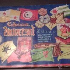Coleccionismo Álbumes: LIBRO DE ESCUDOS,MONEDAS Y MAPAS 409 CROMOS. Lote 46413590