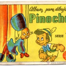 Coleccionismo Álbumes: PINOCHO, ALBUM PARA DIBUJAR. SERIE 1ª. Lote 46501358