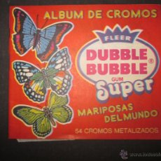 Coleccionismo Álbumes: MARIPOSAS METALIZADOS - DUBBLE BUBBLE - ALBUM INCOMPLETO - (ALB-141). Lote 46564960