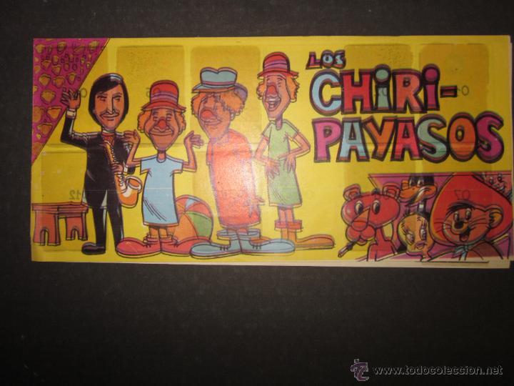 ALBUM LOS CHIRI PAYASOS - PIPAS TOSTAVAL - ALBUM INCOMPLETO - (ALB-145) (Coleccionismo - Cromos y Álbumes - Álbumes Incompletos)
