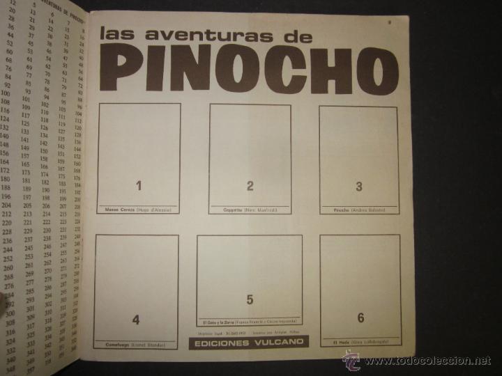 Coleccionismo Álbumes: LAS AVENTURAS DE PINOCHO - EDICIONES VULCANO - ALBUM INCOMPLETO - (ALB-174) - Foto 2 - 46607247