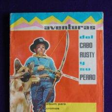 Coleccionismo Álbumes: ALBUM AVENTURAS DEL CABO RUSTY Y SU PERRO. EDIT FHER. AÑO 1962. CONTIENE 190 DE 200 CROMOS.. Lote 46616462