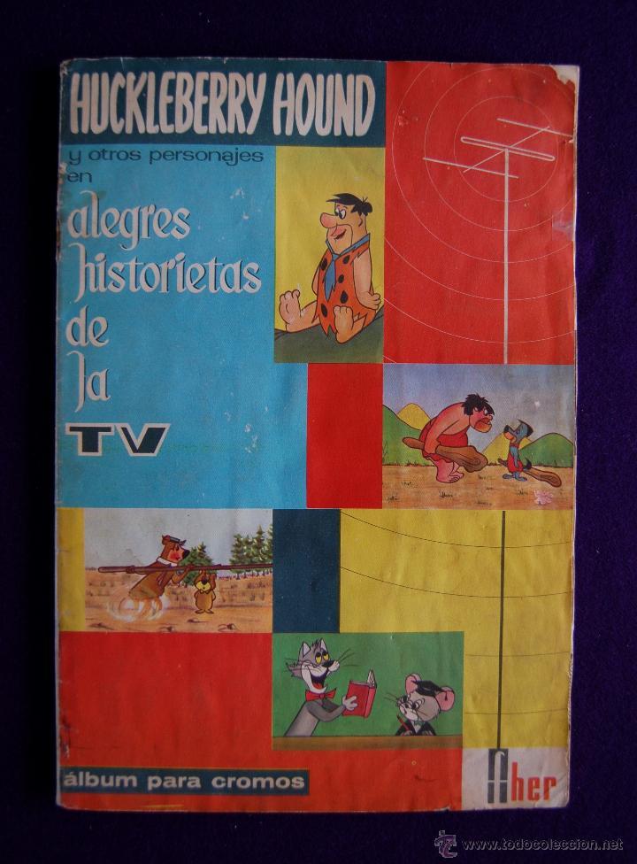 ALBUM HUCKLEBERRY HOUND Y OTROS PERSONAJES... SOLO LE FALTAN 2 CROMOS. EDIT FHER. AÑO 1962. (Coleccionismo - Cromos y Álbumes - Álbumes Incompletos)
