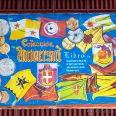 Coleccionismo Álbumes: COLECCIÓN UNIVERSAL LIBRO DE BANDERAS ESCUDOS MONEDAS MAPAS FALTAN 27 DE 409 CROMOS. PORTES GRATIS.. Lote 46904737