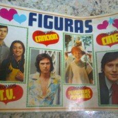 Coleccionismo Álbumes: ALBUM INCOMPLETO DE FIGURAS DE LA TELE -CINE Y MUSICA AÑOS 80. Lote 46925899
