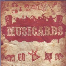 Coleccionismo Álbumes: MUSICARDS - ÁLBUM INCOMPLETO - PANINI. Lote 47100465