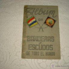 Coleccionismo Álbumes: ALBUM DE BANDERAS Y ESCUDOS DEL MUNDO.FHER. FALTAN 16 CROMOS. Lote 47320403