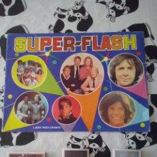 Coleccionismo Álbumes: MAGA - ALBUM VACIO SUPER-FLASH + 62 CROMOS NUEVOS DE ALMACEN. MBE. Lote 47345942