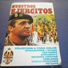 Coleccionismo Álbumes: ALBUM NUESTROS EJERCITOS EDITORIAL RUIZROMERO AÑO 1982 DE 323 FALTAN 17 . Lote 47456526