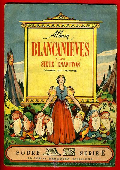 ALBUM CROMOS BLANCANIEVES Y LOS SIETE ENANITOS , CON 255 CROMOS ,SOBRE AS SERIE E ,ORIGINAL, K (Coleccionismo - Cromos y Álbumes - Álbumes Incompletos)